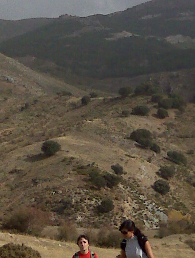 Panorama de la zona de la ruta, desde los Llanos del Purche