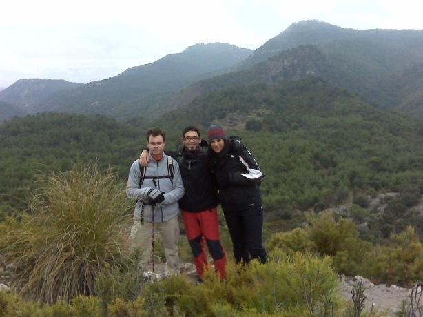 Natalia, Manolo y yo en la Cañada del Sereno