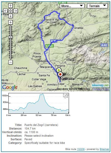 Mapa interactivo en www.bikemap.net